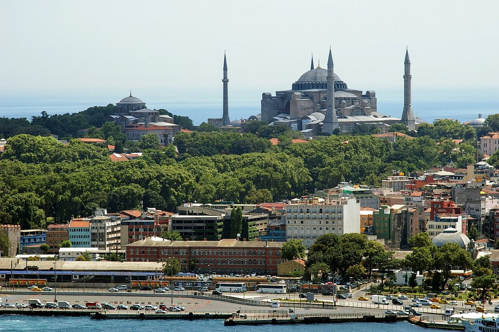 Hagia Sophina from Galata tower